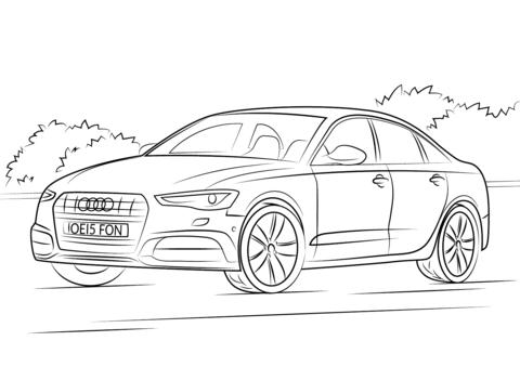 Dibujo De Audi A6 Para Colorear
