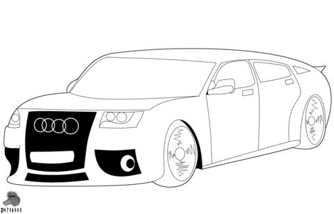 Dibujo De Coche Audi Para Colorear