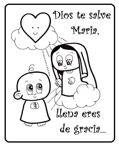 Compartiendo Por Amor  Dibujos Ave María