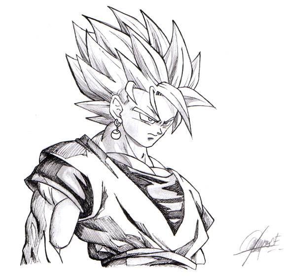 Dibujos De Goku Super Sayayin Dios Para Colorear