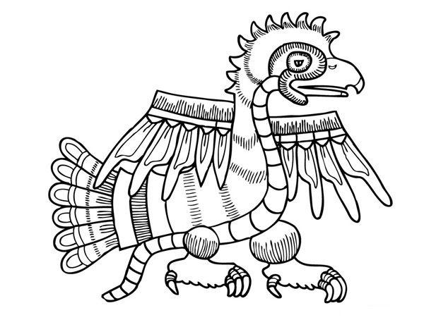 Colorea Tus Dibujos  Aztecas Para Colorear