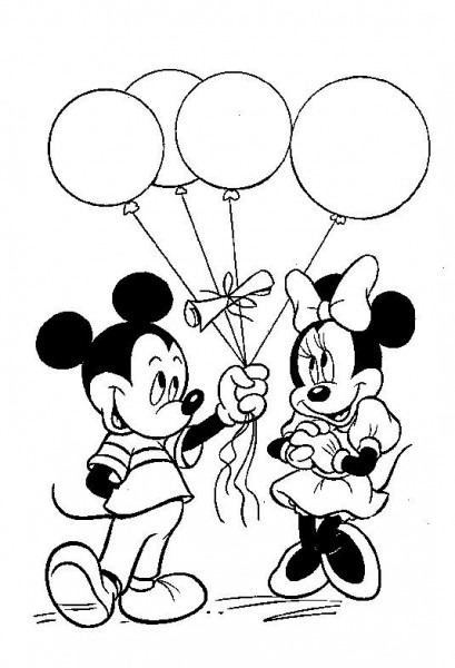 Minnie And Mickey Coloring