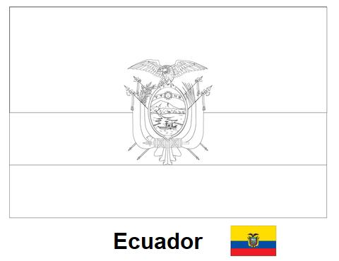 Geography Blog  Bandera De Ecuador Para Colorear