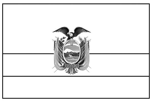 Bandera Del Ecuador Para Colorear