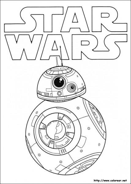 Dibujos Para Colorear De Star Wars  El Despertar De La Fuerza
