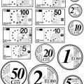 Imagenes De Billetes Y Monedas Para Colorear