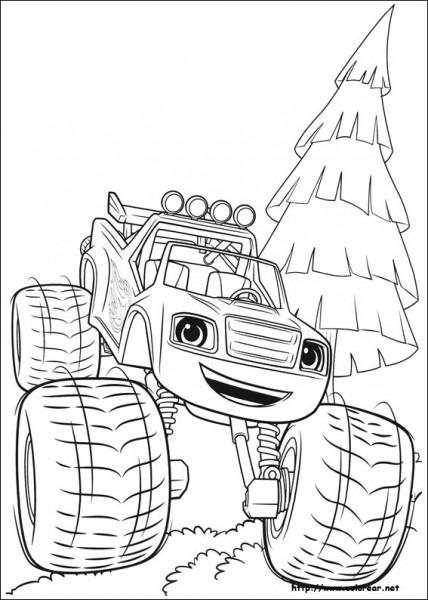 Dibujos De Blaze Y Los Monster Machines Para Colorear En Colorear Net