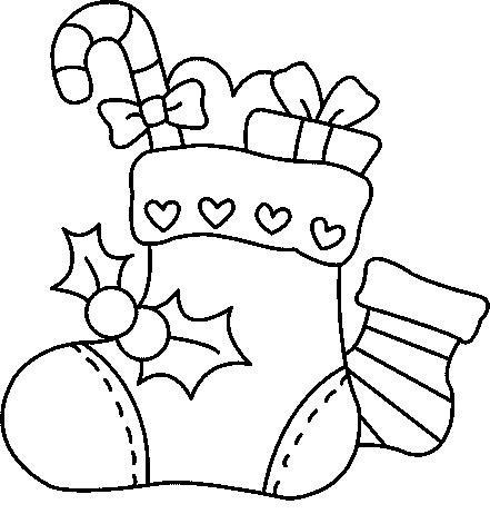 Botas Para Colorear De Navidad