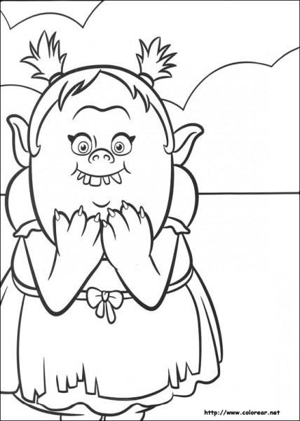 Dibujos De Trolls Para Colorear En Colorear Net