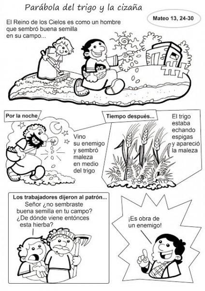 El Rincón De Las Melli  Historieta  Parábola Del Trigo Y La Cizaña