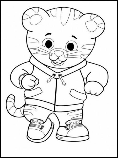 Dibujos Para Pintar Para Niños Daniel Tiger 10