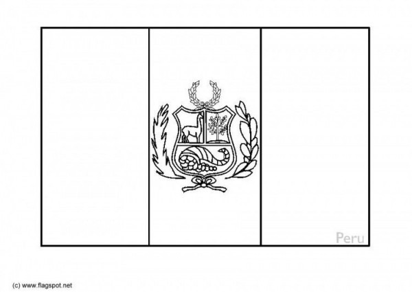 Image Result For Bandera De Peru Para Colorear