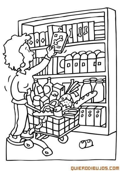 Dibujos Tiendas Para Colorear