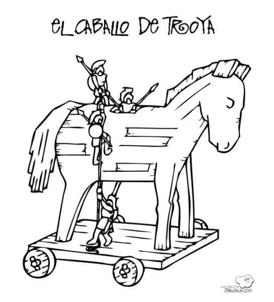 Dibujos Del Caballo De Troya Para Colorear