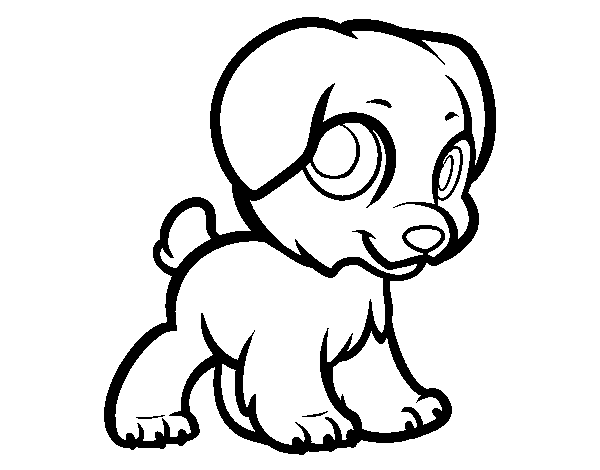 Dibujo De Cachorro Feliz Para Colorear
