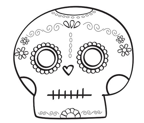 Calaveras Día De Los Muertos Para Colorear