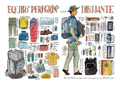 El Camino De Santiago Dibujado ✍ Ilustrador Acuarelas