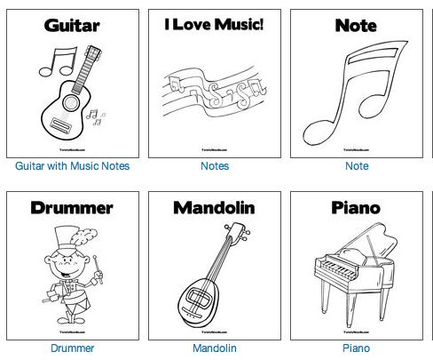 Dibujos Musicales Para Imprimir Y Colorear