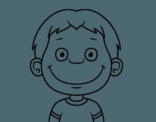 Dibujo De Cara De Niño Pequeño Para Colorear