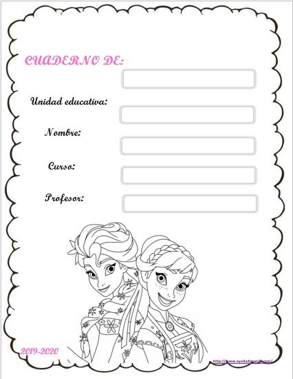 Carátulas Para Cuadernos Niñas Imprimir