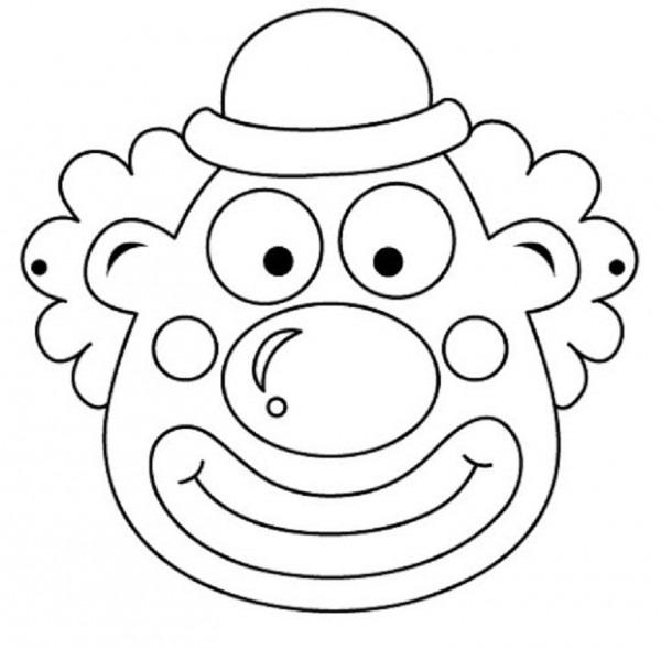 Máscaras De Personajes De Circo Para Pintar