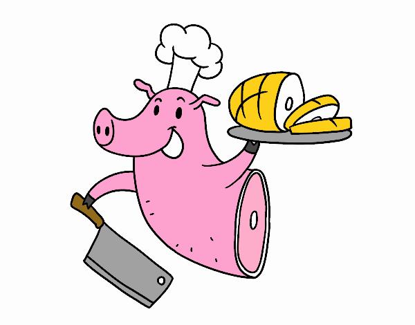 Dibujo De Carne De Cerdo Pintado Por En Dibujos Net El Día 09
