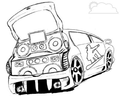 Dibujos Para Colorear De Autos Tuning 2016