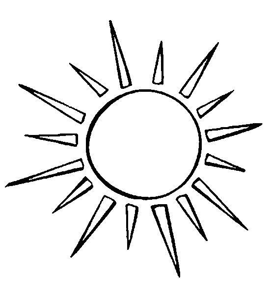 Dibujo Para Colorear Estrellas Sol Luna