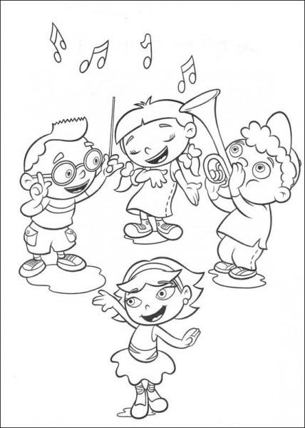 Dibujos Para Colorear Mini Einsteins 1