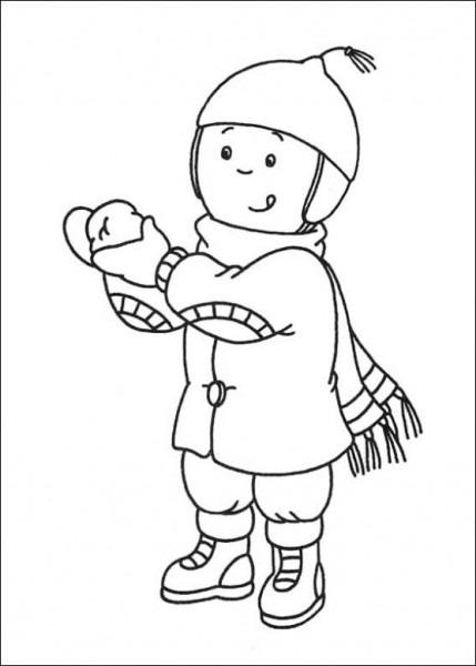 Maestra De Infantil  El Invierno  Dibujos Para Colorear