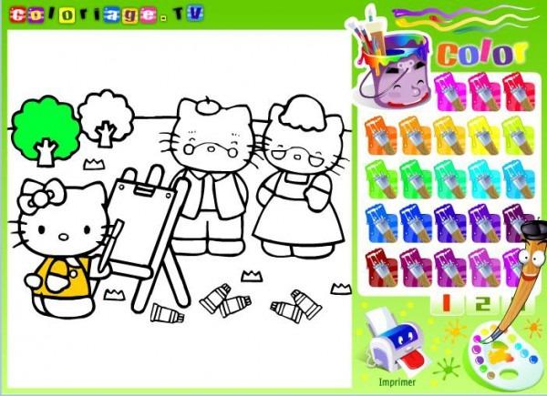 Colorea Online A Hello Kitty