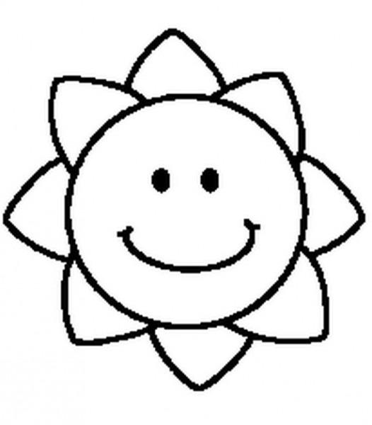 Dibujo Para Colorear Estrellas Sol Luna 4