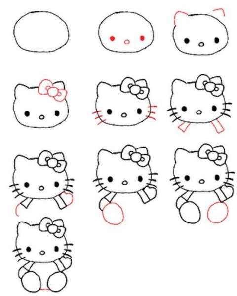 Dibujo Para Colorear Como Dibujar A Hello Kitty Con Lacito