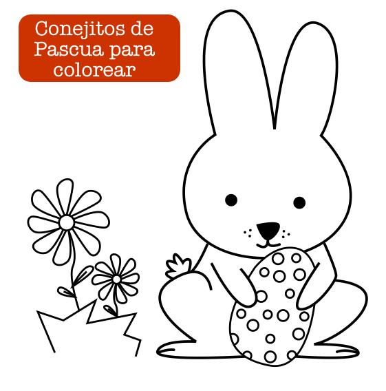 Colorear Conejitos De Pascua