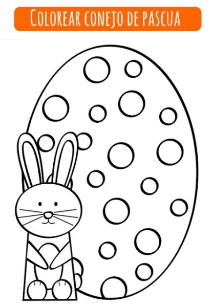 Colorear Conejo De Pascua