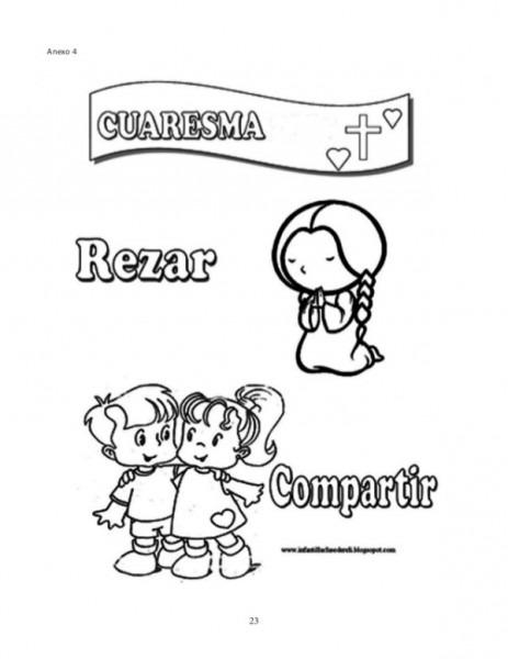 Dibujos De La Cuaresma Para Colorear