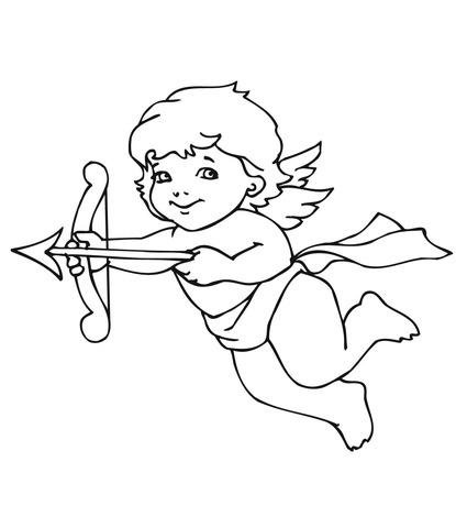Dibujo De Cupido Para Colorear