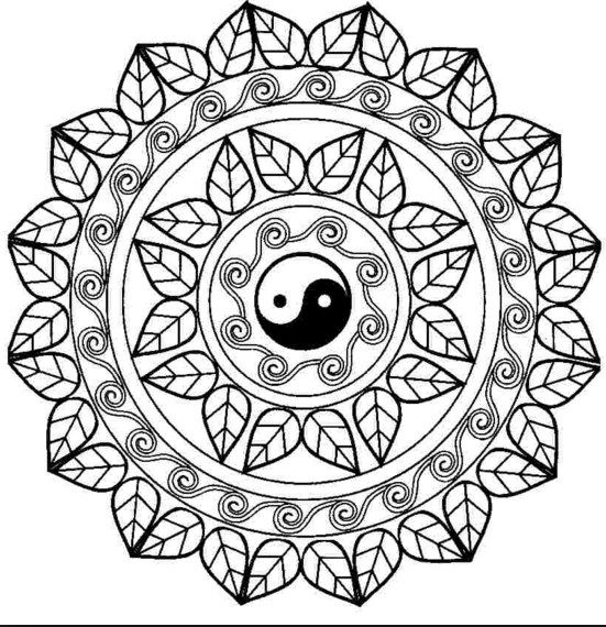 Mandala Para Colorear Yin Yang