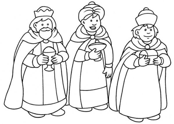 Los Reyes Magos Para Colorear