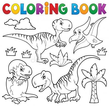 ᐈ Para Colorear Imágenes De Stock, Dibujos Dinosaurios Para