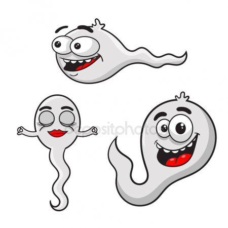 Un Espermatozoide De Dibujos Animados Blanco Sonriente Y Feliz