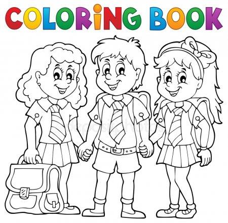 ᐈ Alumnos Estudiando Para Colorear Imágenes De Stock, Dibujos
