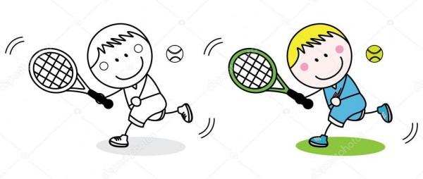Imágenes  Del Badminton Para Colorear