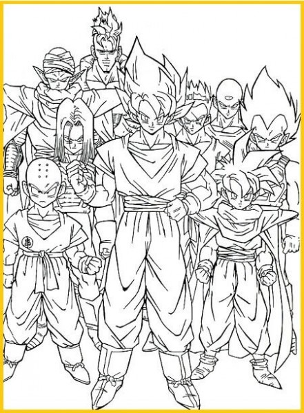 🔎 Descargar Dibujos De Dragon Ball Z Para Colorear Gratis