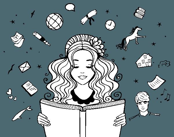 Dibujo De Día Del Libro Para Colorear