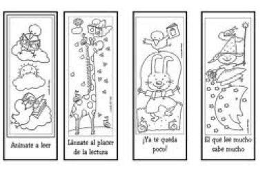 DÍa Del Libro ( Puntos De Libro Para Imprimir Y Colorear)