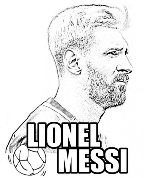 Geography Blog  Dibujo De Lionel Messi Para Colorear