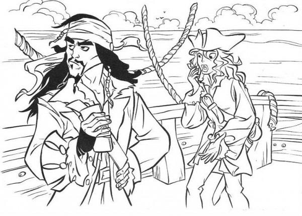 Dibujo De Jack Sparrow Para Colorear