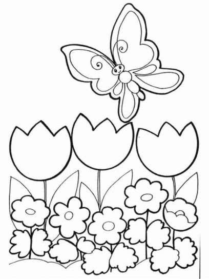 Dibujos Para Colorear  Fotos Dibujos Primavera (foto)