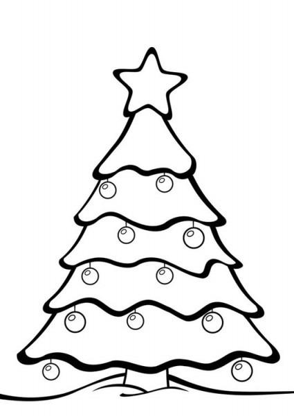 Dibujos Para Colorear De Arbol De Navidad – Niza Regalos De